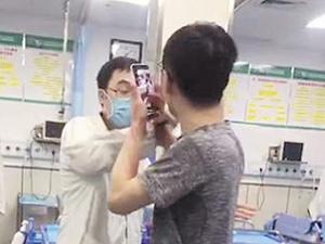 男子大闹急诊科要求医生给狗狗治病 事发南宁(图)
