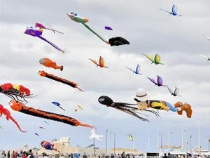 法国举行迪耶普风筝节