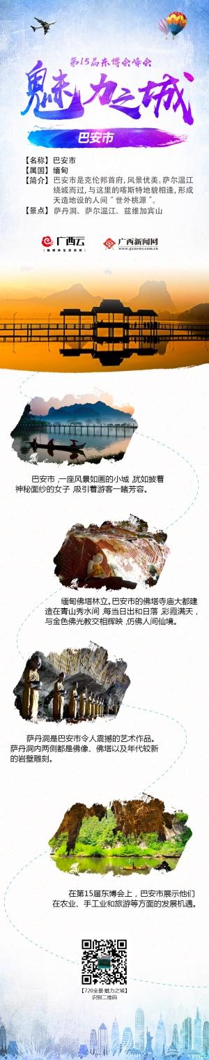 """第15届东博会""""魅力之城""""城市名片之缅甸巴安市"""