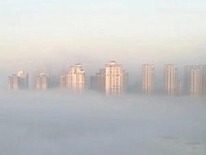 南宁现辐射雾景观 云雾缭绕宛如仙境
