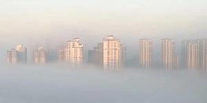 南宁现辐射雾景观 云雾缭绕宛如仙境(组图)