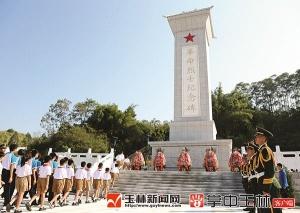 玉林各界向烈士敬献花篮 黄海昆韦韬等出席仪式