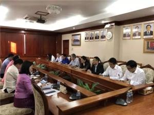 广西科技代表团与老挝科技部开展工作会谈