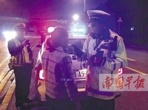 南宁交警开展夜查行动 查处各类交通违法行为87起