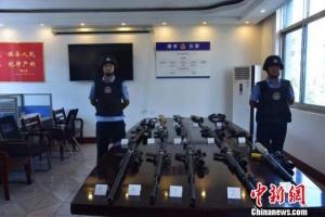 湖南津市警方捣毁一跨省贩枪网络 缴获枪支22支