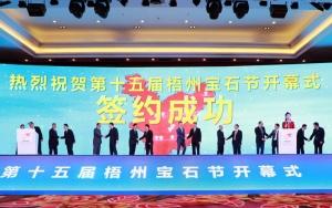 第十五届梧州宝石节开幕 签约40项目总额逾266亿