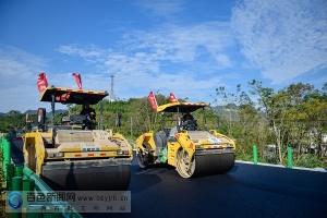 靖西至龙邦高速公路开铺沥青上面层 通车倒计时