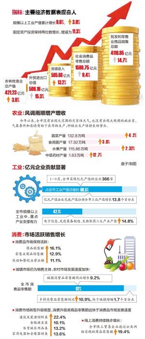 前三季度南宁市GDP同比增长6.4% 市民舍得买买买