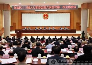 自治区十三届人大常委会第六次会议召开