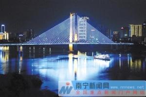 邕江综合整治沿岸灯光亮化工程为南宁夜景添魅力