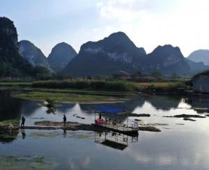 广西靖西:冬日乡村美如画  泉水清澈景色宜人(图)
