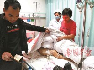 马山一妇女被野猪突然袭击 全身多处被严重咬伤