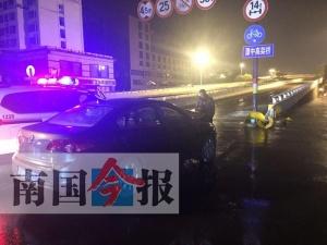 男子酒后駕車撞路肩意欲逃離被截停 事發柳州(圖)