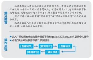 广西:驾驶人足不出户可网上完成违法记分满分教育