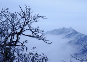 桂林猫儿山跨年盛宴 银装素裹庆新年