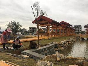 贺州富川古城镇修建生态停车场