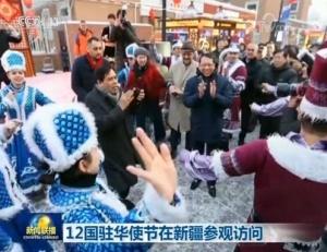 12国驻华使节在新疆参观访问