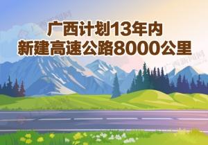 【桂刊】广西计划13年内新建高速公路8000公里