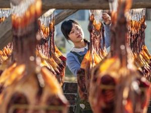 高清:浓浓的年味 桂林临桂会仙镇旧村板鸭飘香