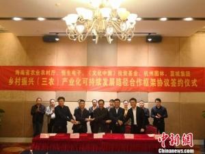 海南引进社会资本启动农村资源资产综合服务平台建设