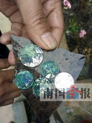 三江一偏僻山村中挖出古银币 专家:每枚仅值几十元(图)