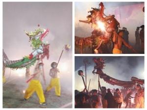 2月16日焦点图:宾阳炮龙节数十万人狂欢祈福