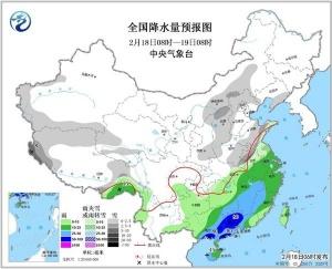 华北黄淮再迎降雪 华南江南有大到暴雨