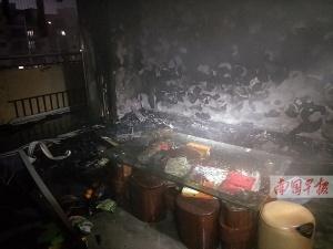 南宁一居民外出忘关电暖器 一时疏忽酿火灾(图)