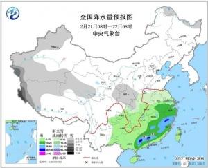 江南华南有中到大雨 华北黄淮汾渭等有轻至中度霾