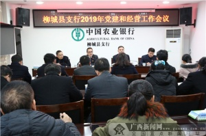 农行柳城支行传达会议精神总结部署年度工作