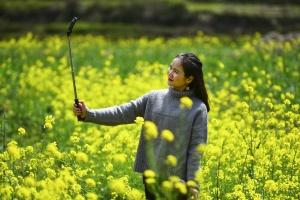 龙胜各式鲜花竞相绽放 游客踏青赏花乐享明媚春光