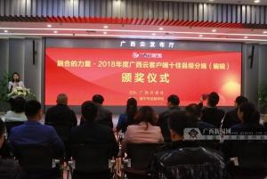 广西日报表彰广西云客户端十佳县级分端及编辑