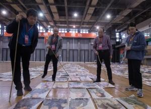 杭州:画海钓图 探营中国美院阅卷现场