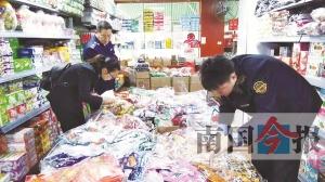 柳州两日出动上千人次 查扣一批被曝光食品