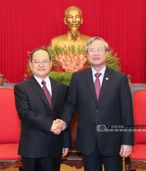 鹿心社拜会越共中央政治局委员陈国旺