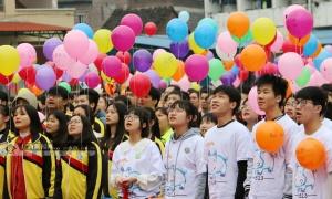高清图集:忻城千名学子宣誓决战高考
