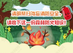 【图解】清明祭扫防火知识