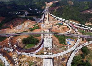 贵港西外环高速公路项目开工 为双向四车道