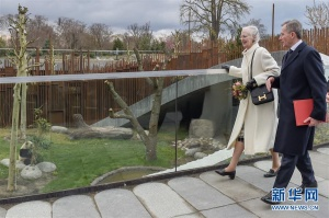 丹麦女王为哥本哈根动物园熊猫馆揭幕