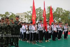 """北海:中学生走进军营 """"零距离""""接受国防教育"""
