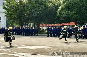 银河注册220名新招录消防员4月19日开始入职集训(图)