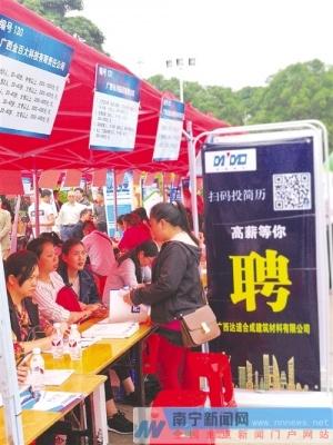 南宁市民营企业招聘周活动启动 学历普遍要求不高