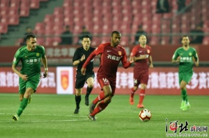 中超联赛第6轮,河北华夏幸福一球负于北京国安