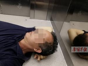 靖西一男子被困电梯21小时 曾绝望到用手机写遗书