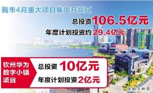钦州市62个重大项目总投资106.5亿元集中开竣工