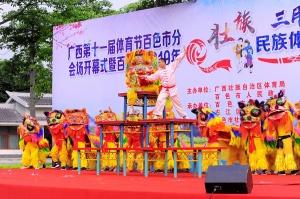 广西第十一届体育节百色市分会场开幕式举行(图)