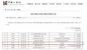廣西1人入選!中國工程院院士增選候選人名單公布