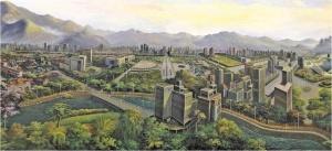 高清:耗时一年创作 大型油画《玉林图》震撼亮相