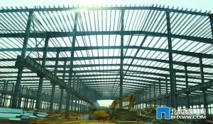 北海:信义玻璃完成4万平方米钢结构厂房搭建