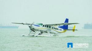 北海至涠洲岛水上飞机航线成功首飞